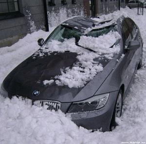 Падения снега и льда на транспорт